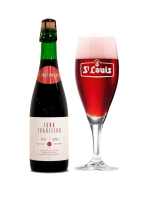 St Louis Fond Tradition Kriek Lambic fles + glas